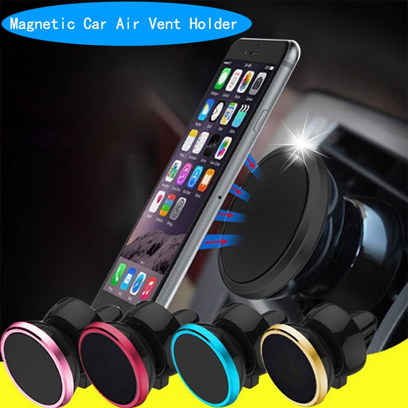 Magnetic Car Phone Holder 360 Degree Air Vent Mount Magnet Car Holder Mobile Phone Stand New Luxury Five Color For Iphone6...11