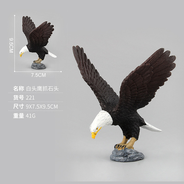 Birds Action Toys Figures Simulation Raptor Owl Bald Eagle Model Learning Educational Toys for Kids Gifts Home DecorationAction & Toy Figures