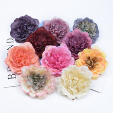 2/5 pcs Silk peony decorative flowers wall christmas garland home decor accessories wedding bridal clearance artificial flowers(China)