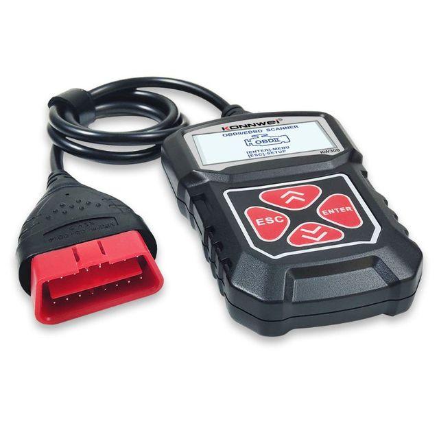 2020 najnowszy profesjonalny samochodowy czytnik kodów diagnostyczne narzędzie skanujące KW309 OBD2 skaner motoryzacyjny Check Engine światła narzędzia Mu