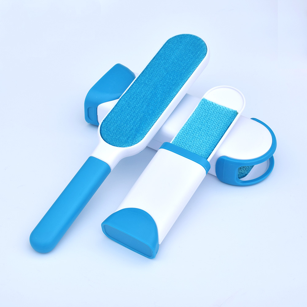Pet Dog Hair Remover Pet Fur Brush Base Double-Side Home Furniture Sofa Clothes Fabric Cleaning Tools Cleaning Supplies