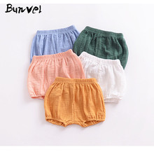 Bunvel/Новые шорты для мальчиков и девочек; однотонные штаны с рюшами и оборками; хлопковая смесь; Детские шорты; детские шаровары; ff