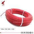 100 metros 33ohm 66ohm 133ohm alta calidad teflón PTFE cable de calefacción de fibra de carbono cable de calefacción sistema de calefacción de suelo infrarrojo