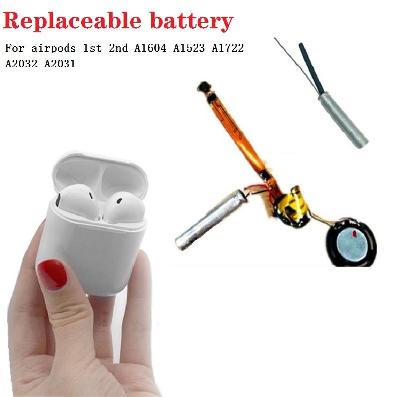 100% nova 25mAh Bateria para airpods GOKY93mWhA1604 1st 2nd A1604 A1523 A1722 A2032 2 vagens 1 A2031 para vagens do ar para o ar