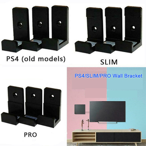 Image 3 - 1Set 3D Print Wall Controller Holder For Sony PS4 Slim Pro Console Stand Host Rack Bracket Game Storage Mount Accessories