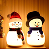 Christmas Night Light For Children Cute Snowman Nightlights For Xmas Gifts 3D Led Toys With Trumpet Cartoon Anime Beside Lamp