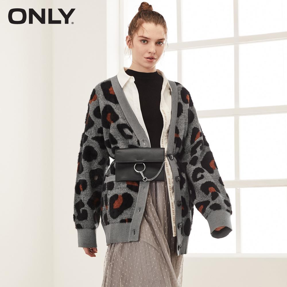 ONLY 2019 Autumn Winter Women's Leopard Print Cardigan    11933B511