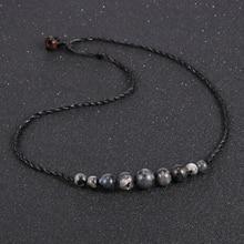 цена Unisex Men Women Natural Stone Necklace Labradorite Pink Purple Crystal Tiger Eye Beads Choker Clavicle Chain Fashion Jewelry онлайн в 2017 году
