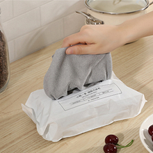 Disposable Towels Kitchen Tools Cleaning Cloth Reusable Wet Wipes Rags Kitchen Towel Home Swedish Dishcloth Kitchen Towel