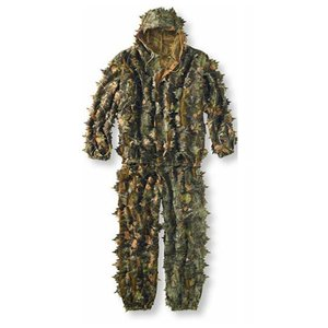 3D Leaves Camouflage Poncho Cl