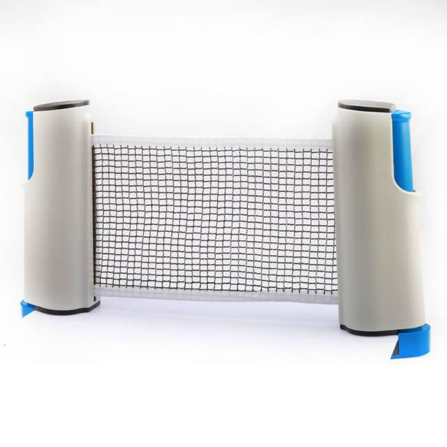 Retractable Portable Ping-Pong Plastic Mesh Net Rack Set for Indoor Sport