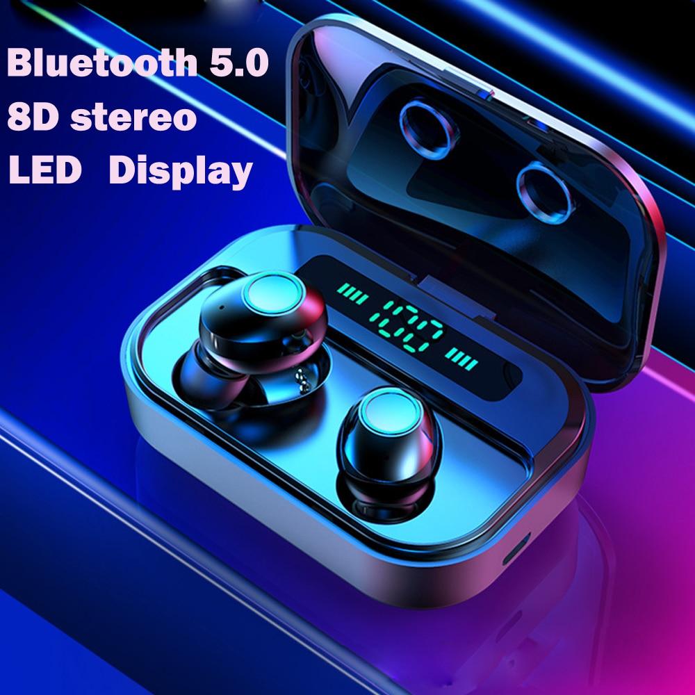 Tws fone de ouvido sem fio Bluetooth Fones De Ouvido fones de ouvido handsfree fone de ouvido sem fio bluetooth esporte Display LED para todo o telefone