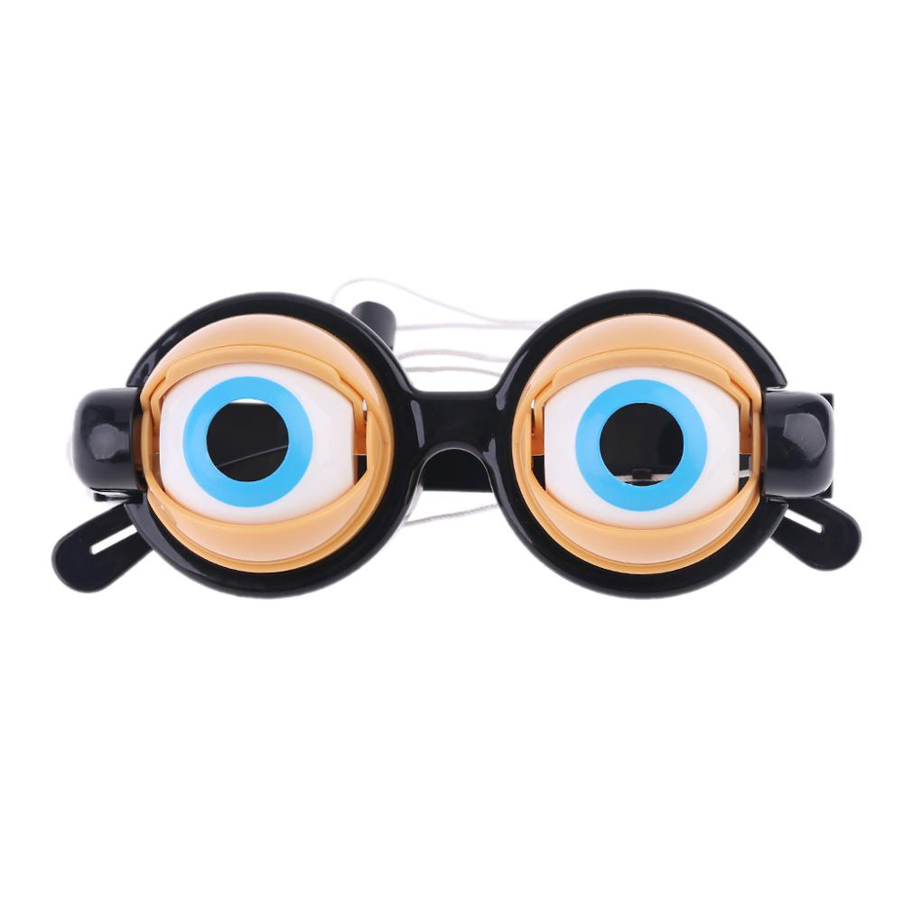 Crazy Eyes Funny Children Toys Creative Funny Boy Girl Game Play Toy Plastic Glasses