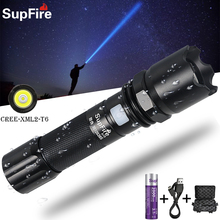 Supfire A10 LED Flashlight Bicycle Glare Torch Outdoor Sports Searchlight Fishing Flashlight USB Rechargeable Flashlight