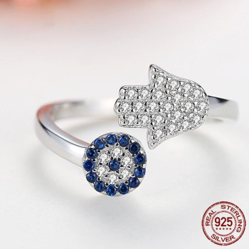 Evil Eye Adjustable Rings Rings Products under $30 8703dcb1fe25ce56b571b2: Gold|Rhodium plated|Rose Gold