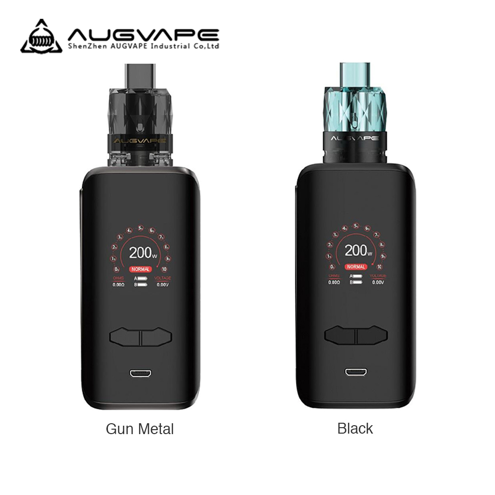 Original <font><b>Augvape</b></font> <font><b>VX200</b></font> Box Mod Kit With Jewel Subohm Tank <font><b>200W</b></font> 1.3 Inch Color Display E-cig Vape Kit VS Drag 2/ Luxe image