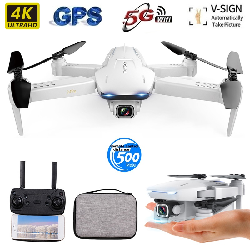 2020 Drone S162 4K 1080P HD Dual Camera 5G WIFI FPV Foldable Quadcopter With One Click Return RC Distance 500 Meters Long Batter