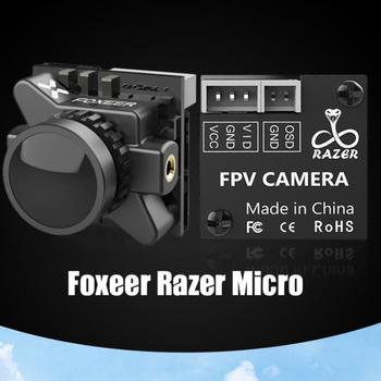 Foxeer Razer Micro 1200TVL FPV Sport kamera FPV pal ntsc przełączany obiektyw 1 8mm 4ms opóźnienie dla dronów FPV tanie i dobre opinie RCMOY Metal Wartość 2 Samoloty servos Odbiorniki Pojazdów i zabawki zdalnie sterowane Serwa Black