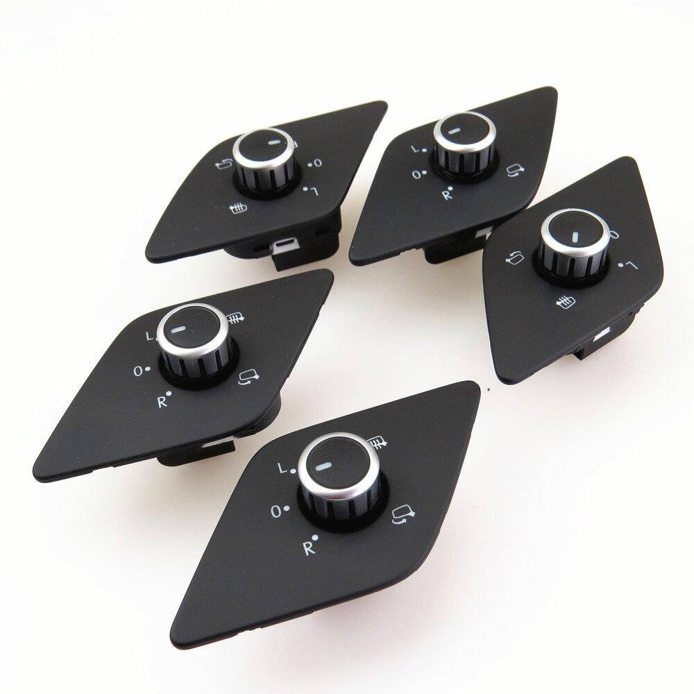 FHAWKEYEQ bouton de commutation et rétroviseur   Qty 5 conducteurs, Version haute, bouton de commutation, chauffage pliable, pour VW Jetta MK6 ventilateurs