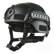 цена American MICH2000 Rail Version Tactical Helmet Army Fan Game Outdoor Sports Protection Riot Helmet онлайн в 2017 году