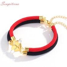 Couples Name Bracelet Custom Women Personalized Bracelet Engraving 925 silver Half Heart Custom Letter Red Rope For Lovers