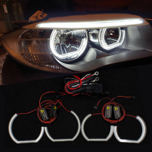 цена на DTM Angel Eyes LED For BMW F10 F13 F22 F30 F31 F34 F35 Xenon Headlight DRL Halo M4 Style Turn Signal Light Kit Accessories