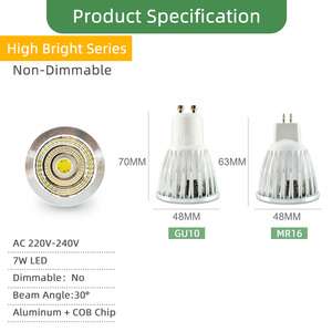 Image 3 - Kaguyahime Dimmable LED Spotlight Led Lamp MR16 E27 GU10 GU5.3 MR11 6W 7W 8W 220V DC 12V Spot LED Bulb Light Lampada Bombillas