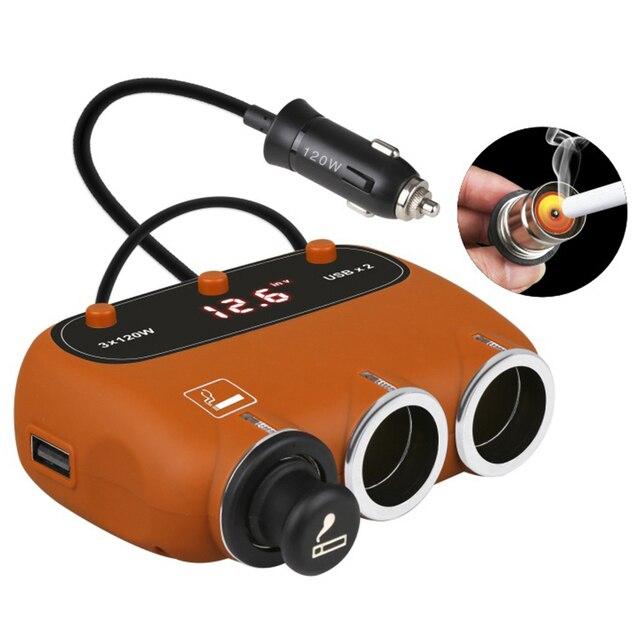 Double Ports USB 3 prises dallume-cigare | Affichage de tension, adaptateur de chargeur de voiture