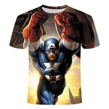 New Fashion Superman Batman 3D T-Shirt Summer Men's Short Sleeve Casual T-Shirt Super Hero Top T-Shirt T-Shirt 6xl