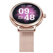 NY13 جديد أنيق المرأة ساعة ذكية شاشة مستديرة Wmartwatch لفتاة مراقب معدل ضربات القلب متوافق مع أندرويد و IOS
