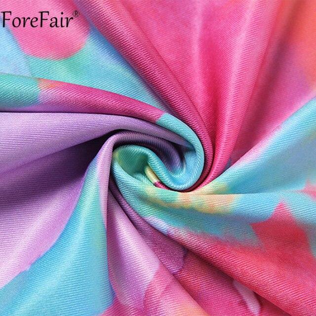 Forefair Tie Dye Backless Halter Neck Women Dress Bandage Sleeveless Off Shoulder Mini Beach Party Sexy Dresses 2021 Summer 6
