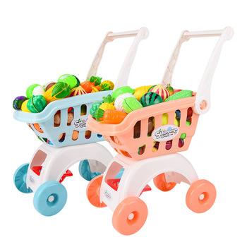 Dzieci duży wózek na zakupy do supermarketu wózek Push samochody zabawkowe kosz symulacja wytnij owoce Mini jedzenie udawaj zagraj w dom zabawka dla dziewczynki tanie i dobre opinie ohye 7-12m 25-36m 4-6y 7-12y Z tworzywa sztucznego CN (pochodzenie) Montaż no fire Unisex Simulation shopping cart Bagged