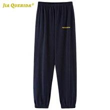 Pyjamas-Pants Lounge Sleep-Bottom Soft Plus-Size Womens for Fashion Blue Letter Printing