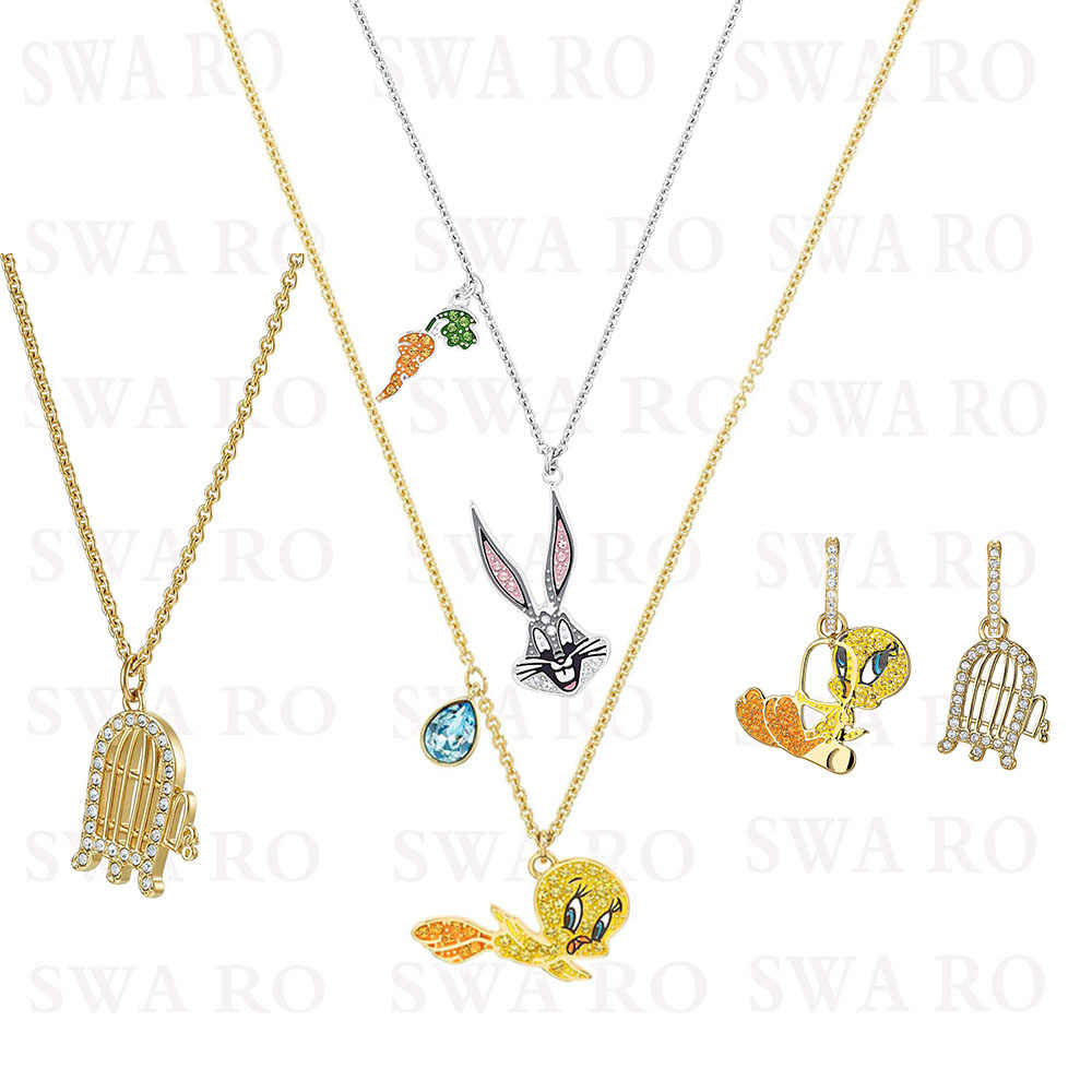 SWA RO 2019 New LOONEY TUNES Collection Childhood Nostalgic Bugs Bunny Bird Cage Pattern Crystal Give Lovers. Children Best Gift