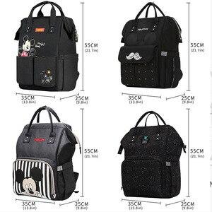 Image 3 - Disney Diaper Bag Backpack For Moms Baby Bag Maternity For Baby Care Nappy Bag Travel Stroller USB Heating Send Free 1Piar Hooks