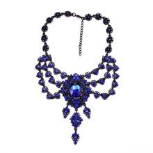 JERPVTE, новинка, винтажное ожерелье из черной цепочки камней, s& Кулоны, многослойный кристалл, Массивный воротник, колье, ожерелье, ювелирное изделие