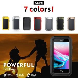 Image 2 - 360 volle Schutz Doom rüstung Metall Telefon Fall für iPhone 11 Pro XS Max XR X 6 6S 7 8 Plus 5 5S Cases Stoßfest Staubdicht Abdeckung