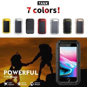 Image 2 - Capa de proteção completa 360 para iphone, armadura de metal para celulares iphone 11 pro xs max xr x 6 6s 7 8 plus 5S casos à prova de poeira,