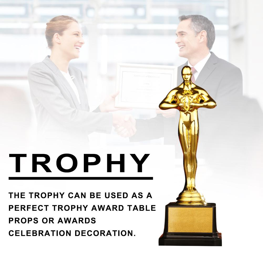 Oscar Trophy Gold Plated Gold Award Trophy Statuette Team Sport Competition Crafts Souvenir Party Celebration Gift