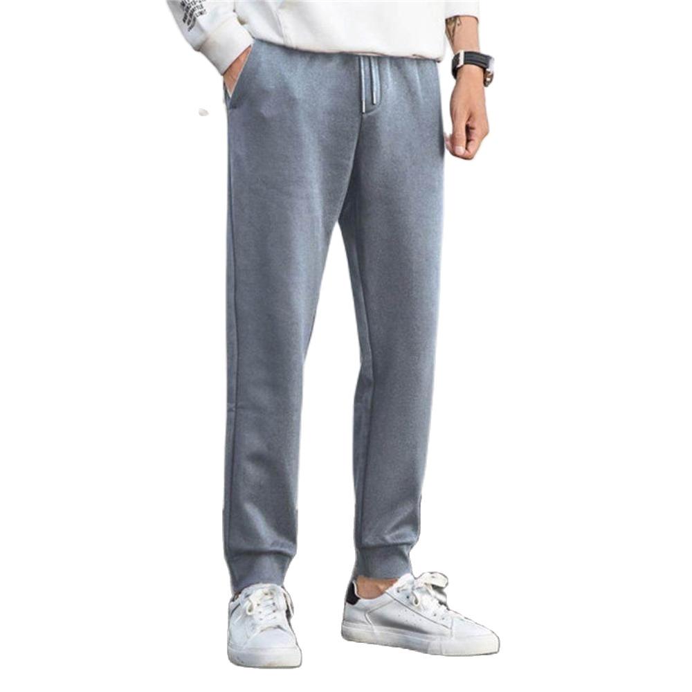 SEMIR Fleece-Line Men Printed pants Men Pull-on Joggers Sport Pants Slant Pocket Drawstring Waistband Ribbing Waist Hem