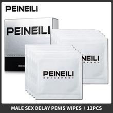 12 pçs masculino atraso toalhetes tecido molhado natural homem sexual prolongar retardador ejaculação realçador prazer para homem duradouro sexo toalhetes