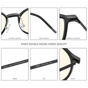 Image 5 - FONEX TR90 Anti mavi ışık gözlük erkekler gözlük gözlük gözlük gözlük Anti mavi oyun bilgisayarı gözlük kadınlar için AB02