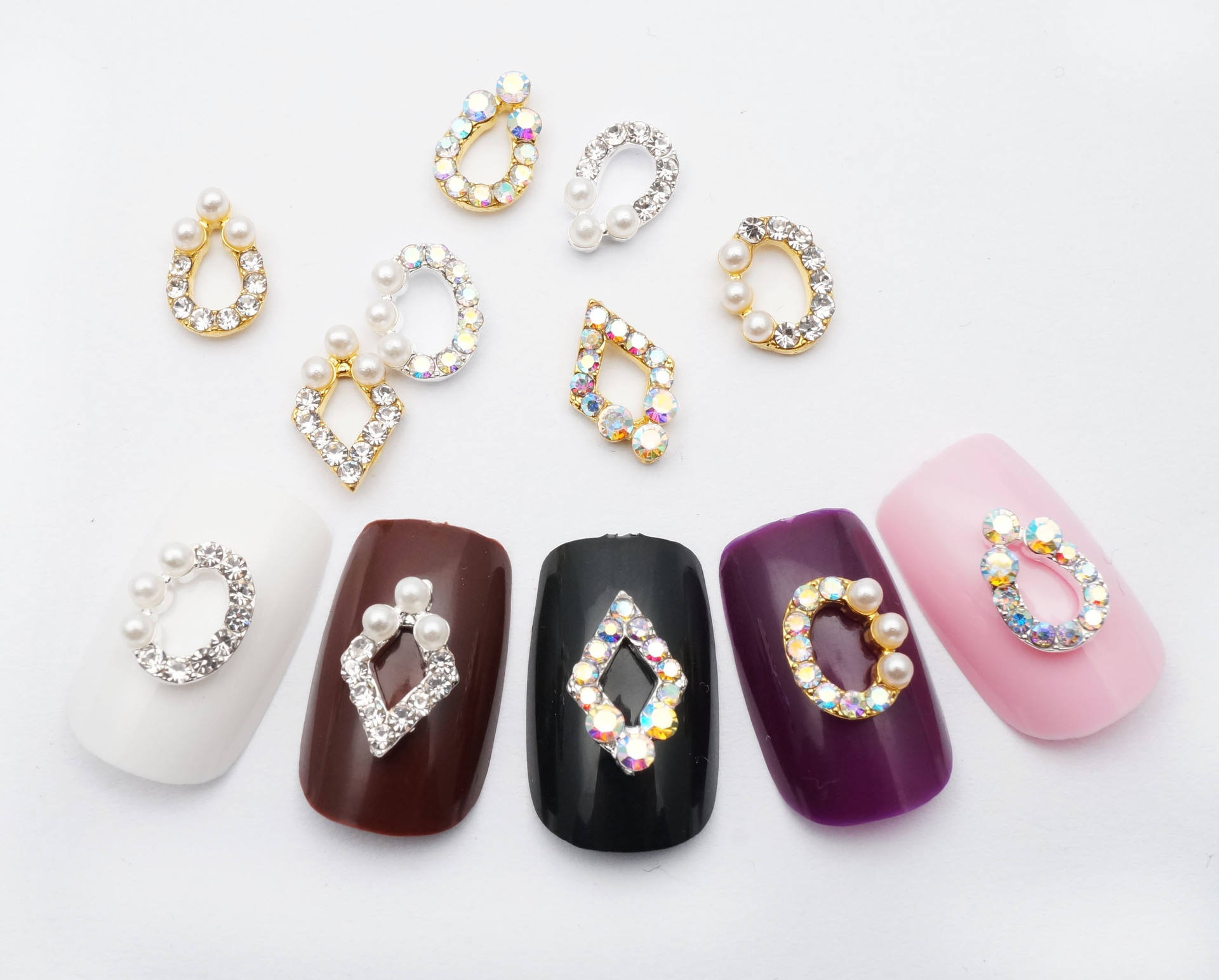 Nail Ornament Manufacturers Direct Selling New Style Japanese-style Ren Qi Kuan Manicure Diamond Nail Sticker Currently Availabl