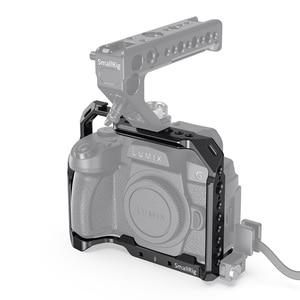 Image 3 - SmallRig G95 Dslr kafes Panasonic G95 kamera kafesi soğuk ayakkabı dağı ve NATO rayları Video çekim hızlı bırakma kafes 2446
