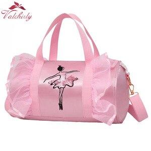 Image 1 - Ballet Dance Bags Pink  Girls Sports Dance Kids Backpack Baby Barrels Package Bag Costume Clothes Shoes Dress  Handbag