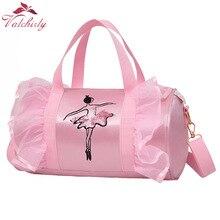 Sacos de dança ballet rosa meninas esportes dança crianças mochila bebê barris pacote saco roupas traje sapatos vestido bolsa