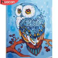 HUACAN Ölgemälde Durch Zahlen Eule Tiere Zeichnung Leinwand DIY Bilder Durch Zahlen Wand Kunst Hand Bemalt Wohnkultur