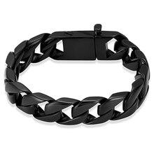 Crematie Urn Armband Voor Mannen Rvs Heren Grote Curb Chain Armband Voor As Aandenken Memorial Sieraden