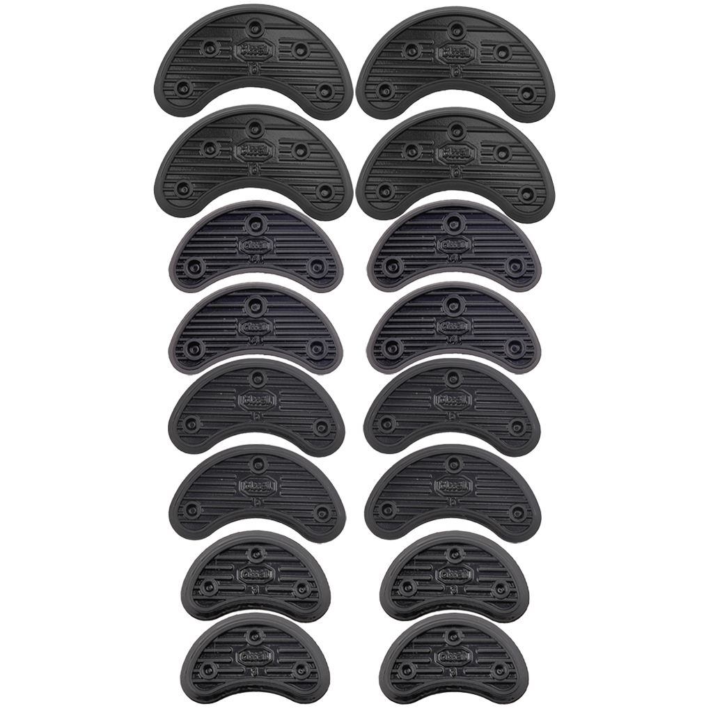 16Pcs 4 Size Anti-slip Rubber Protectors Shoe and Repair Shoe Sole Heel Tips Tap