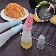 Продукты для барбекю на открытом воздухе 1 шт. термостойкая бутылка для масла силиконовая щетка кухонный инструмент для барбекю Кухонные принадлежности Инструменты